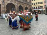Russische Tanzgruppe in Rothenburg ob der Tauber, Deutschland