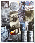 The Time -  Maße: 40 x 50cm    Bilderrahmen verglast, weises Plastik.  33€