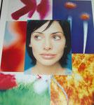 Träumerin -  Maße: 50 x 60cm    Bilderrahmen verglast, schwarzes Aluprofil (Galeriequalität).  40€