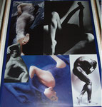 Nass - Maße: 31 x 41cm  Bilderrahmen verglast, blaues Plastik.   15€