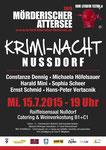 Plakat zur Kriminacht Nussdorf 2015