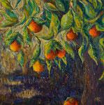 """""""Naranjo"""". Oleo sobre lienzo. 80 cm x 80 cm"""