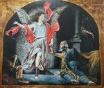 """""""La liberación de San Pedro"""". Acrílico y pan de oro sobre lienzo. 60 cm x 50 cm"""