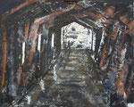 """""""El tunel"""". Acrílico sobre tabla. 110 cm x 80 cm"""
