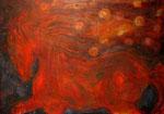 """Caballo rojo"". Oleo sobre lienzo. 105 cm x 78 cm"