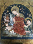 """""""Natividad"""". Acrílico y pan de oro sobre tabla. 50 cm x 60 cm"""
