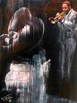 """""""Wynton Marsalis""""; técnica mixta; 60 cm x 80 cm"""