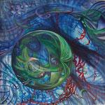 """Stillleben des Universums - IV"" (90x90) 2014"