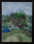 """""""Zuid-Holland Niederlande Ferienhaus/Garten Sketch"""" (30x40) 2011"""