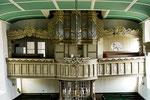 Orgelprospekt und Orgel