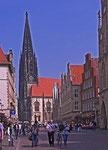 Prinzipalmarkt mit Blick auf die Lamberti-Kirche