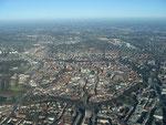 Luftaufnahme der Innenstadt