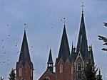 Blick auf die Kirchtürme