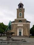 Die Marienkirche, 1829–1833 im klassizistischen Stil von Dänemarks goldenem Zeitalter nach Entwürfen von Christian Frederik Hansen gebaut.
