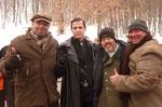 Ralf Seeger mit Michael Paré und Clint Howard