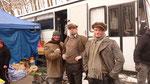 Erstes Posing mit den deutschen Kollegen nach der Requisite ...