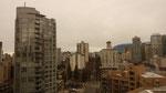 Ralf Seegers Blick aus dem Fenster des Sutton Place Hotels mitten in der Innenstadt von Vancouver