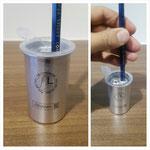 【左利き用アルミ鉛筆削り】 オシャレなシルバーカラーの左利き専用の鉛筆削りです。 ¥745(税込)