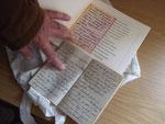 Paul Ostrop hatte das Tagebuch seines Vaters mitgebracht