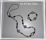 """Sautoir & son bracelet """"Hiver"""" - Création déc 2010"""