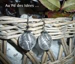 """Boucles d'oreilles """"Septembre"""" - Création janv 2011"""