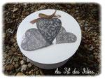 """Petite boîte ronde """"Avec le coeur"""" - Printemps 2012"""