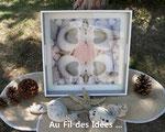 """Plateau """"Coeur de galets"""" (40x40 cm) - Création juin 2011"""
