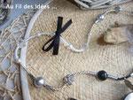"""Sautoir & bracelet """"Chic & sympa"""" - Créations avril 2011"""