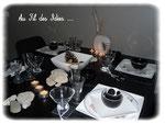 """Déco Table """"Noire & Blanche"""" Mai 2012"""