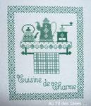 """Petit point de croix """"Cuisine de charme"""""""