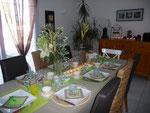 "Déco table ""Vert Anis"" - 16 octobre 2011"