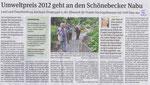 Schönebecker Volksstimme vom 11. Juli 2012