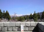 勝山城から白山を望む