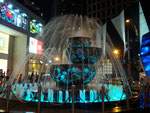 My favourite fountain in KL lit up at night