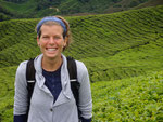 Enjoying the walk in the tea plantation