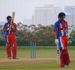 Batting against Fiji at Selangor Turf Club
