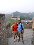 stopping for a picture on The Great Wall (Aug 2011)