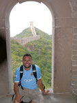 taking a breather from climbing a section on The Great Wall (Aug 2011)