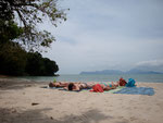 Langkawi, Sunbathing on our own beach!