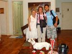 De Souza, Fudgie, Dingo at our digs on Sa Ferreria, Copacabana, Rio de Janeiro, Brazil (Feb 2012)