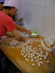 the making of the dumpling...