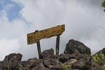 Warnschild im Parque Nacional Volcán Arenal