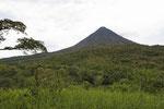 Volcán Arenal einmal ohne Wolken
