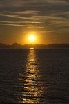 Sonnenuntergang über dem Peloponnes