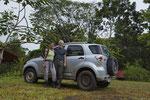 Nach einer Exkursion im Regenwald