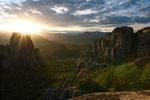 Sonnenuntergang über dem Pindos-Gebirge