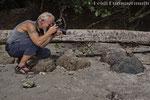 Ein zutraulicher Schwarzleguan, Parque Nacional Manuel Antonio