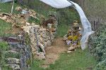 Sanierung einer einsturzgefährdeten Trockenmauer, Kanton Bern