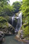 Wasserfall in der Nähe von Bribri am Fuss der Cordillera de Talamanca