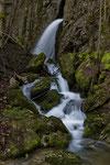 Wasserfall am Oberlauf der Siggern, Solothurner Jura